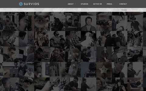 Screenshot of Jobs Page survios.com - Careers - Survios - captured Jan. 23, 2016