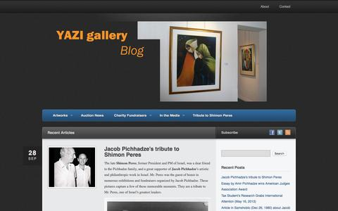 Screenshot of Blog yazigallery.com - YAZI gallery Blog - captured Nov. 17, 2016