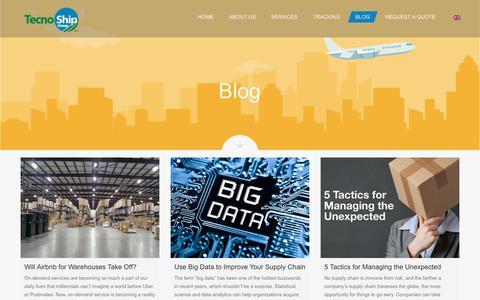 Screenshot of Blog tecnoshipgroup.com - Blog - Tecnoship Group Corp. - captured Oct. 18, 2018