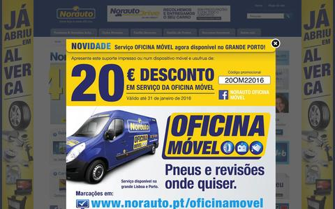 Screenshot of Home Page norauto.pt - Norauto - uma loja e uma oficina - captured Jan. 20, 2016
