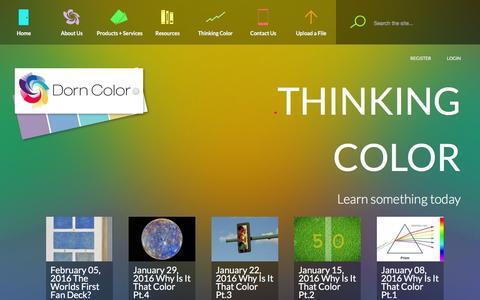 Screenshot of Blog dorncolor.com - Thinking Color | Color samples in Cleveland OH Dorn Color - captured Feb. 9, 2016