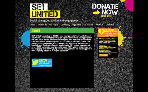 Screenshot of About Page se1united.org.uk - About | SE1 United - captured Oct. 29, 2014