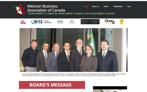 Screenshot of Home Page asocmex.com - Mexican Business Association of Canada - captured Oct. 6, 2014