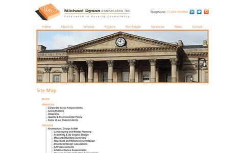 Screenshot of Site Map Page mdyson.co.uk - Sitemap   Michael Dyson Associates Ltd - captured Oct. 18, 2018
