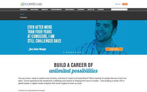 Screenshot of Jobs Page comscore.com - Careers - comScore, Inc - captured July 3, 2016