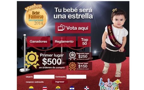 Screenshot of Home Page bebemundo-bebefamoso.com - Bebé Famoso Internacional :: Bebemundo - captured Sept. 25, 2014
