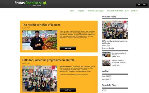 Screenshot of Blog frutascondiso.com - Spanish lemon export | Blog1 - captured Nov. 25, 2016