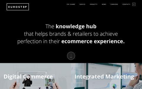 Screenshot of Home Page eurostep.it - Omnichannel Commerce - Full Outsourcing Service Provider |Eurostep - captured Sept. 29, 2018