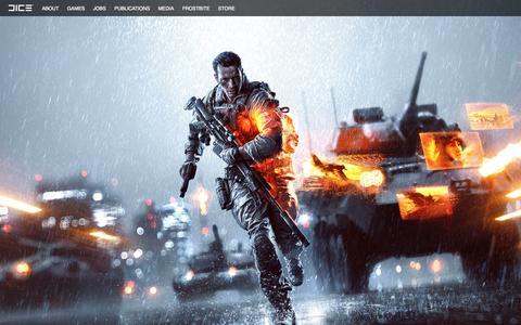 Screenshot of Home Page dice.se - DICE - captured Sept. 19, 2014