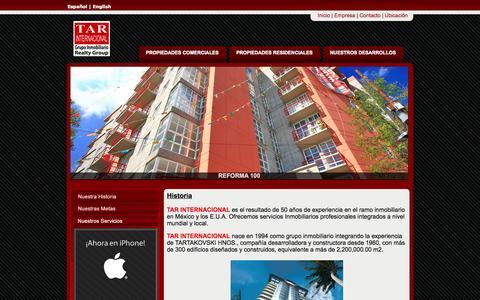 Screenshot of Home Page tarinternacional.com.mx - Inicio | TAR Internacional - captured Oct. 9, 2014