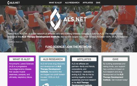 Screenshot of Home Page als.net - ALS.net - captured Oct. 1, 2015