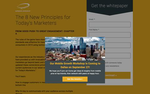 The 8 New Principles for Today's Marketers