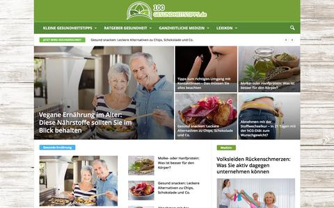 Screenshot of Home Page 100-gesundheitstipps.de - Startseite - 100-Gesundheitstipps - captured June 28, 2017