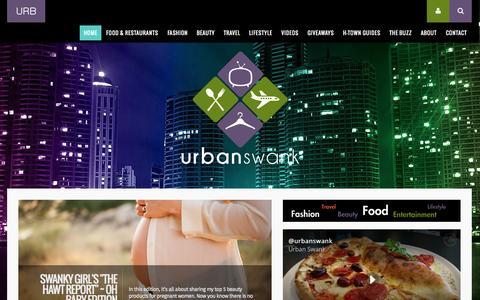 Screenshot of Home Page urbanswankblog.com - Urban Swank®   Houston Lifestyle Blog   Food, Fashion, & Travel - captured Sept. 30, 2015