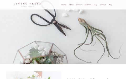 Screenshot of About Page livingfresh.ca - Meet Living Fresh   Living Fresh - captured Sept. 29, 2018