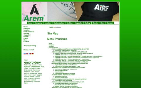Screenshot of Site Map Page arem.it - Site Map - captured Oct. 4, 2014