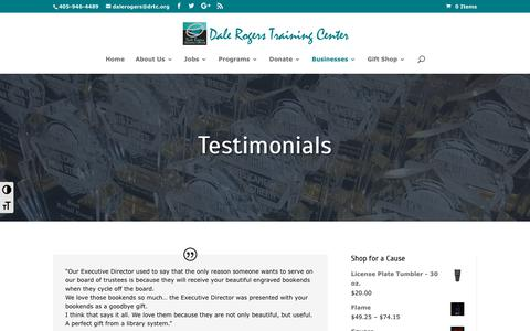 Screenshot of Testimonials Page drtc.org - Prism Place testimonials | Dale Rogers Training Center - captured Oct. 7, 2018