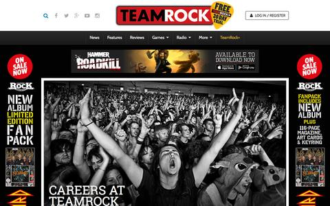 Screenshot of Jobs Page teamrock.com - TeamRock - captured Nov. 23, 2015