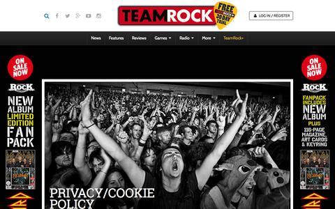 Screenshot of Privacy Page teamrock.com - TeamRock - captured Nov. 23, 2015