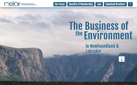Screenshot of Signup Page neia.org - Join the Newfoundland and Labrador Environmental Industry Association - captured Oct. 26, 2014