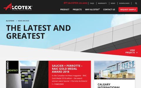 Screenshot of Press Page alcotex.com - News Archive - Alcotex® - captured Oct. 3, 2018