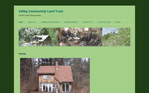 Screenshot of Home Page vclt.org - Valley Community Land Trust | Franklin County, Massachusetts - captured Oct. 20, 2018