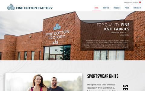 Screenshot of Home Page finecottonfactory.com - Welcome to Fine Cotton Factory – Welcome to Fine Cotton Factory - captured Oct. 19, 2017