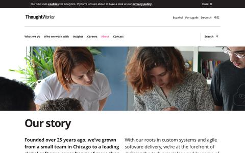 Screenshot of About Page thoughtworks.com - About us | ThoughtWorks | ThoughtWorks - captured Sept. 8, 2019