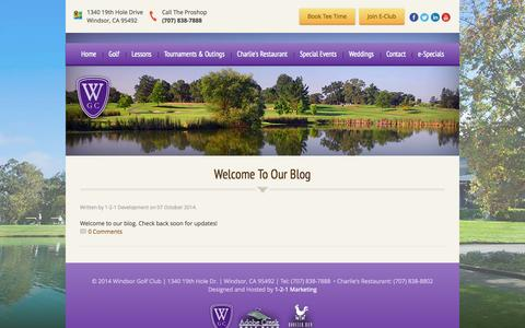 Screenshot of Blog windsorgolf.com - Blog | Windsor Golf Club - Windsor, CA - captured Oct. 7, 2014