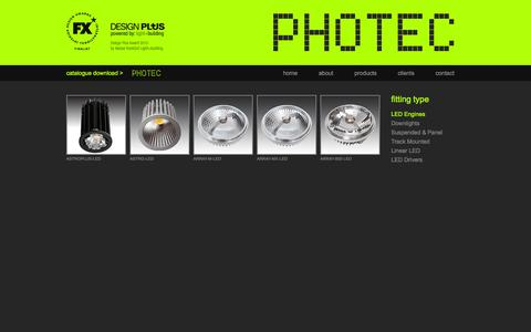 Screenshot of Products Page photeclighting.com - Photec Lighting - LED Engines : Photec Lighting - captured Dec. 9, 2015