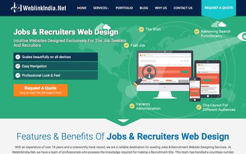 Screenshot of Jobs Page weblinkindia.net - Jobs Web Design Services Delhi | Recruiters Website Designning Company India - captured Nov. 29, 2016