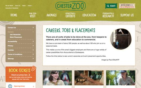 Screenshot of Jobs Page chesterzoo.org captured Nov. 3, 2015