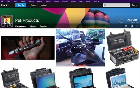 Screenshot of Flickr Page flickr.com - Flickr: Peli Products' Photostream - captured Oct. 22, 2014