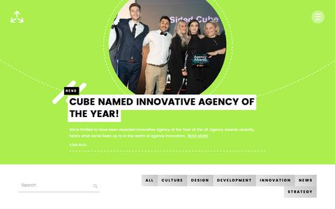 Screenshot of Blog 3sidedcube.com - Blog   Tech news, app development and strategy insights - 3 SIDED CUBE - captured Sept. 20, 2018