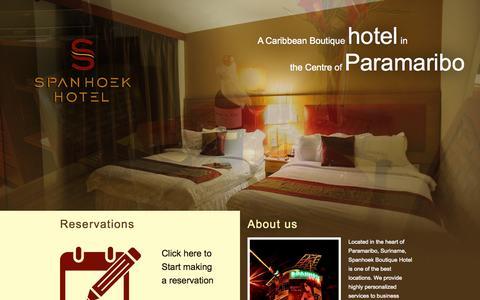 Screenshot of Home Page spanhoekhotel.com - Spanhoek Boutique Hotel - captured Oct. 7, 2014