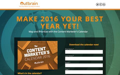 Screenshot of Landing Page outbrain.com captured Feb. 12, 2016