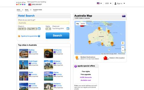 Australia Hotels - Online hotel reservations for Hotels in Australia