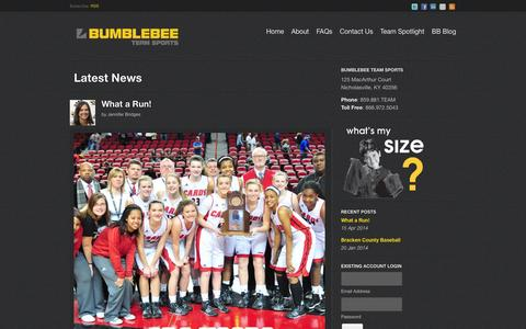 Screenshot of Blog bbteamsports.com - Latest News | Bumblebee Team Sports - captured Feb. 8, 2016