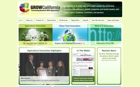 Screenshot of Home Page grow-california.com - Grow California | Connecting Business With Opportunity - captured Sept. 30, 2014