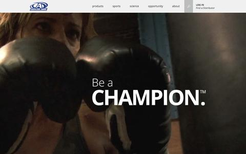 Screenshot of Home Page advocare.com - AdvoCare - We Build Champions - captured Oct. 21, 2015