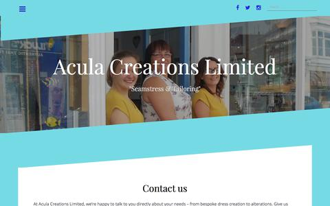Screenshot of Contact Page aculacreations.co.uk - Contact us – Acula Creations Limited - captured Oct. 7, 2017