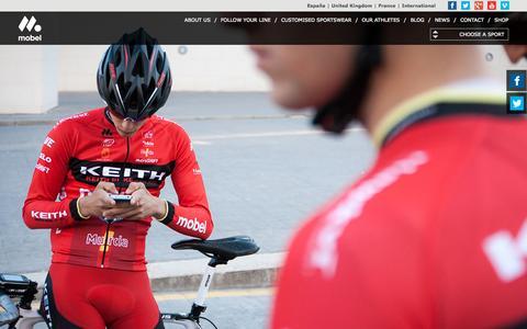 Screenshot of Home Page mobelsport.com - Mobel Sport Sportswear, custom designs - captured Sept. 11, 2015