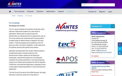 Screenshot of avantes.com - m-u-t AG - Avantes - captured Sept. 1, 2017