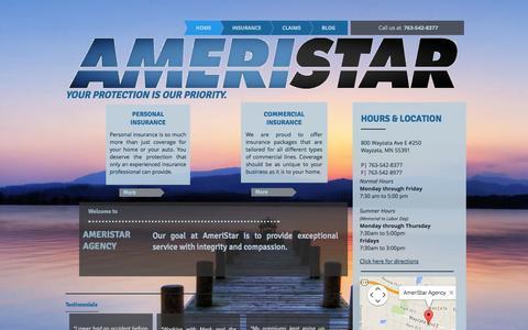 Screenshot of Home Page ameristaragency.com - AmeriStar Agency - captured Sept. 30, 2014