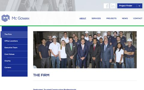 Screenshot of About Page mcgowanbuilders.com - The Firm | Mc Gowan | Construction Management & General Contractor - captured Oct. 17, 2018