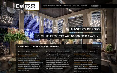 Screenshot of Home Page delade.nl - Delade Interieur Bouw - captured Oct. 5, 2014