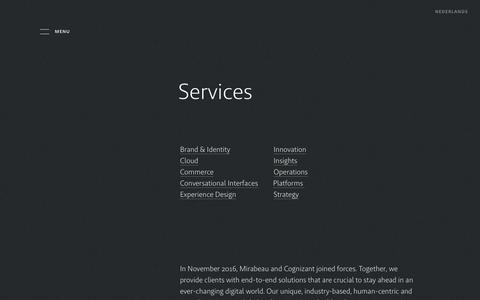 Screenshot of Services Page mirabeau.nl - Services | Mirabeau - captured Sept. 20, 2019