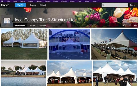 Screenshot of Flickr Page flickr.com - Flickr: Ideal Canopy Tent & Structure Ltd's Photostream - captured Oct. 23, 2014