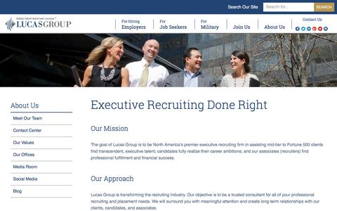 Screenshot of About Page lucasgroup.com - Executive Search - captured May 23, 2017