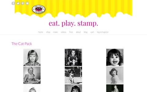Screenshot of About Page thecatspajamasrs.com - The Cat Pack – Eat. Play. Stamp. - captured May 14, 2016